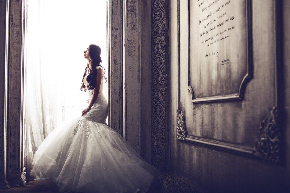 před svatebním obřadem